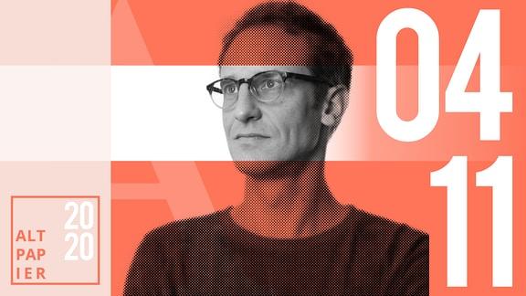Teasergrafik Altpapier vom 5. November 2020: Porträt Autor Klaus Raab