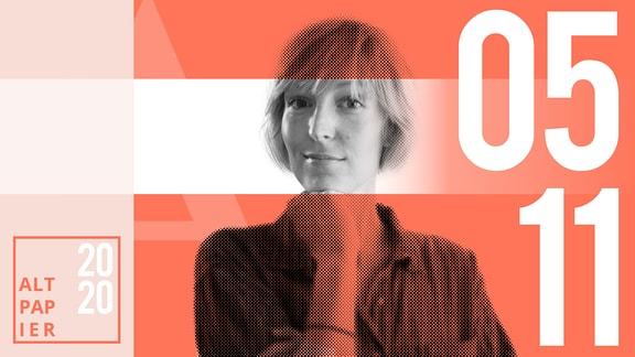 Teasergrafik Altpapier vom 5. November 2020: Porträt Autorin Nora Frerichmann