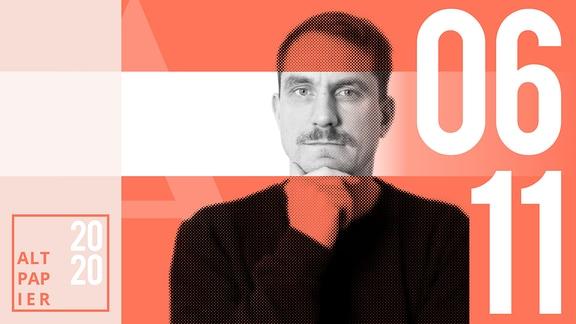 Teasergrafik Altpapier vom 6. November 2020: Porträt Autor Ralf Heimann