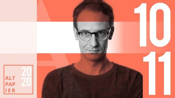 Teasergrafik Altpapier vom 10. November 2020: Porträt Autor Klaus Raab