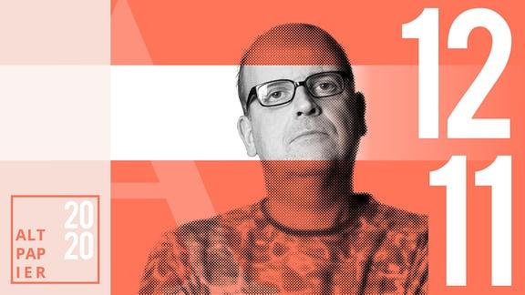 Teasergrafik Altpapier vom 12. November 2020: Porträt Autor René Martens
