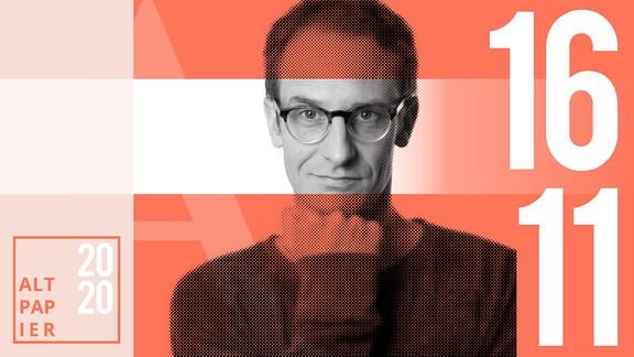 Teasergrafik Altpapier vom 16. November 2020: Porträt Autor Klaus Raab