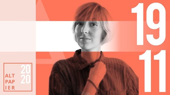 Teasergrafik Altpapier vom 19. November 2020: Porträt Autorin Nora Frerichmann