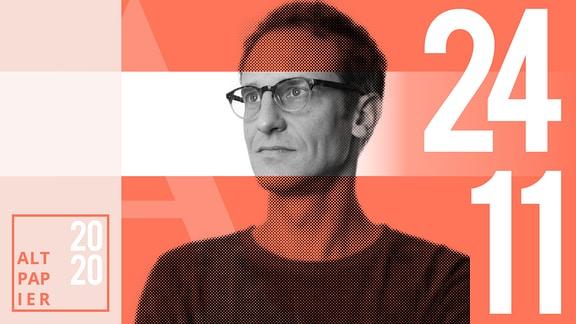 Teasergrafik Altpapier vom 24. November 2020: Porträt Autor Klaus Raab
