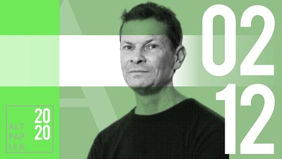 Teasergrafik Altpapier vom 2. Dezember 2020: Porträt Autor Christian Bartels