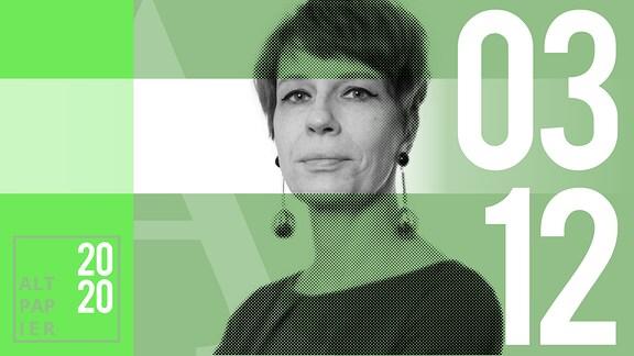 Teasergrafik Altpapier vom 3. Dezember 2020: Porträt Autorin Jenni Zylka