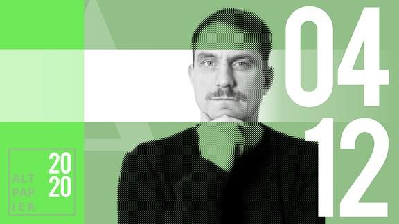 Teasergrafik Altpapier vom 4. Dezember 2020: Porträt Autor Ralf Heimann