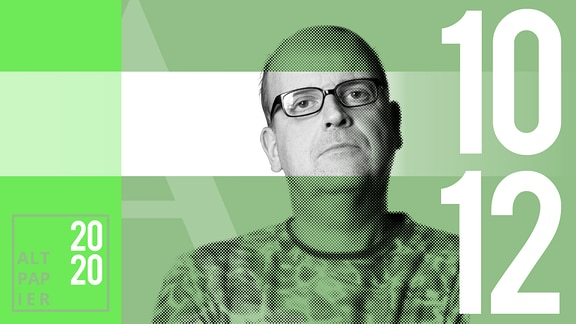 Teasergrafik Altpapier vom 10. Dezember 2020: Porträt Autor René Martens