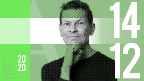 Teasergrafik Altpapier vom 14. Dezember 2020: Porträt Autor Christian Bartels