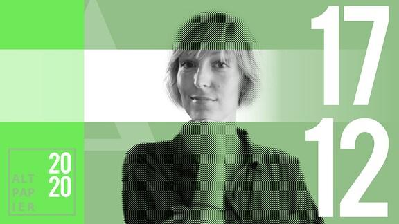 Teasergrafik Altpapier vom 17. Dezember 2020: Porträt Autorin Nora Frerichmann