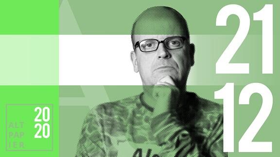 Teasergrafik Altpapier vom 21. Dezember 2020: Porträt Autor René Martens