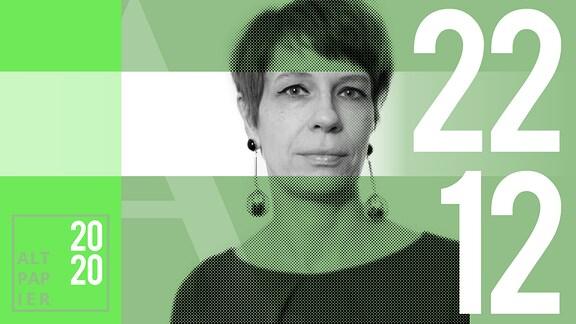Teasergrafik Altpapier vom 22. Dezember 2020: Porträt Autorin Jenni Zylka