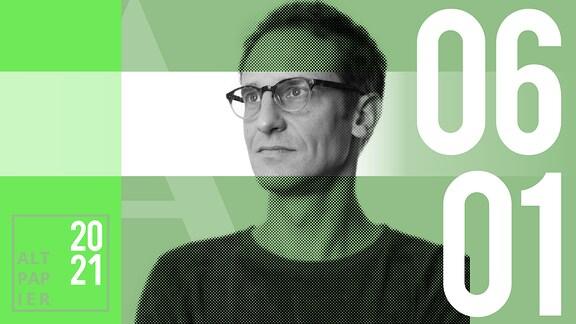 Teasergrafik Altpapier vom 6. Januar 2021: Porträt Autor Klaus Raab
