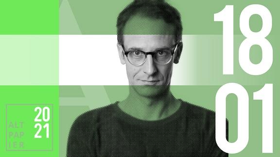 Teasergrafik Altpapier vom 18. Januar 2021: Porträt Autor Klaus Raab