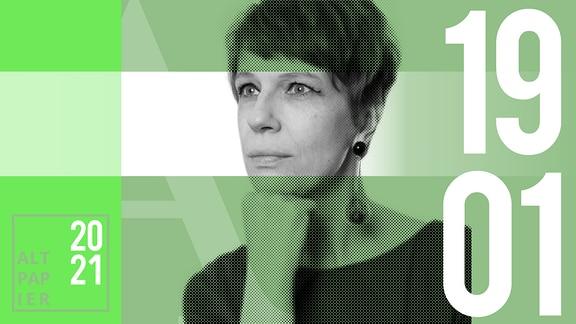 Teasergrafik Altpapier vom 19. Januar 2021: Porträt Autorin Jenni Zylka
