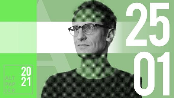 Teasergrafik Altpapier vom 25. Januar 2021: Porträt Autor Klaus Raab