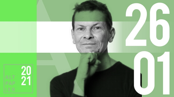 Teasergrafik Altpapier vom 26. Januar 2021: Porträt Autor Christian Bartels