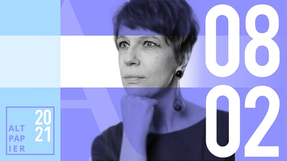Teasergrafik Altpapier vom 8. Februar 2021: Porträt Autorin Jenni Zylka