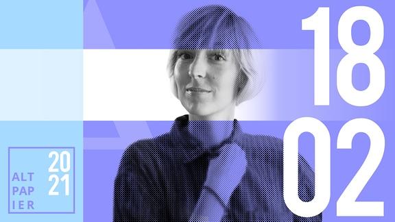 Teasergrafik Altpapier vom 18. Februar 2021: Porträt Autorin Nora Frerichmann