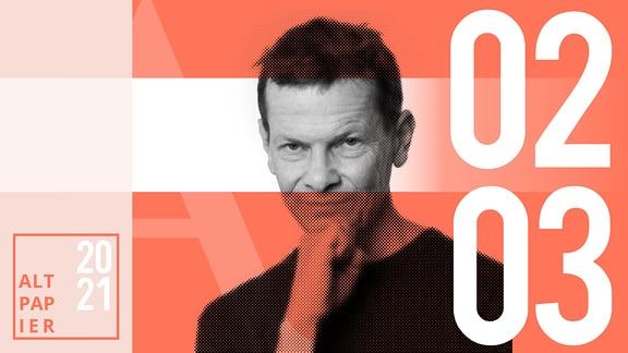 Teasergrafik Altpapier vom 2. März 2021: Porträt Autor Christian Bartels