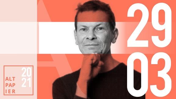Teasergrafik Altpapier vom 29. März 2021: Porträt Autor Christian Bartels