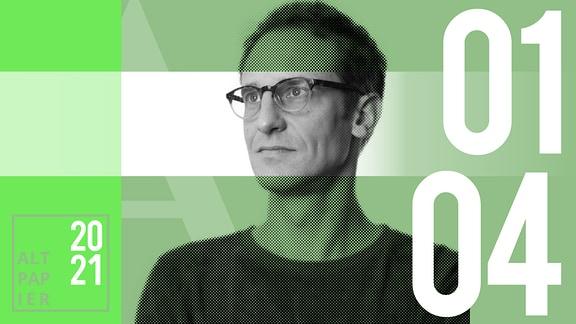 Teasergrafik Altpapier vom 1. April: Porträt Autor Klaus Raab