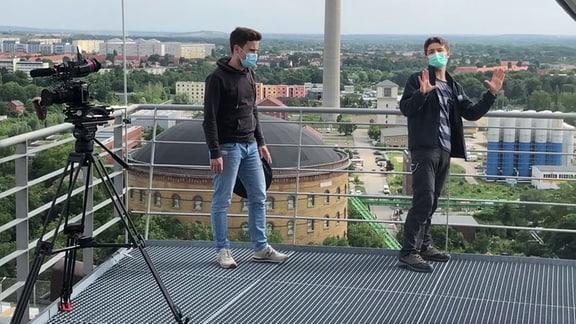 Der MDR vom Dach