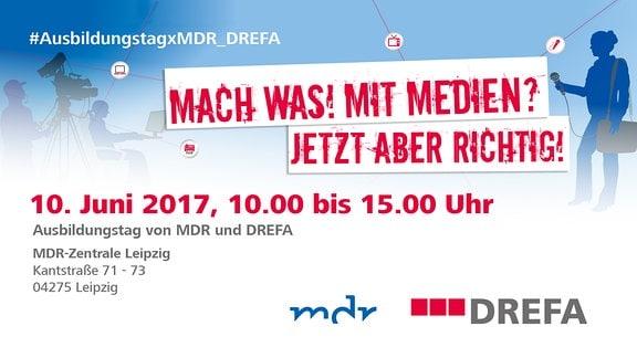 Flyer Ausbildungstag MDR und DREFA als Teaserbild