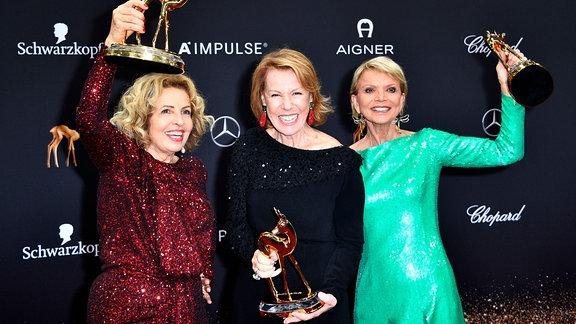 Michaela May, Gaby Dohm und Uschi Glas bei der 71. Bambi-Verleihung 2019 im Festspielhaus.