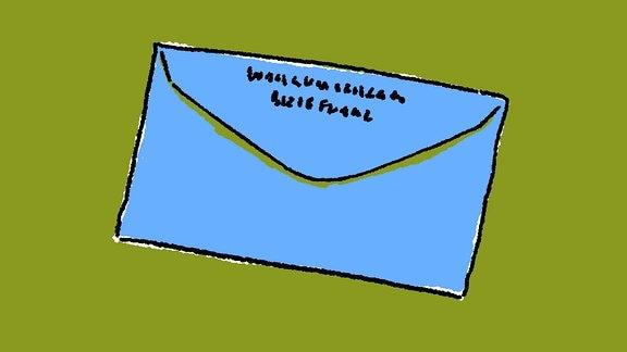 blauer Brief-Umschlag