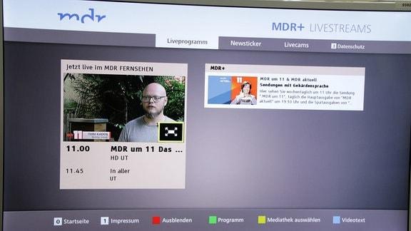 HbbTV - Erklärbilder für die Barrierefreiheit