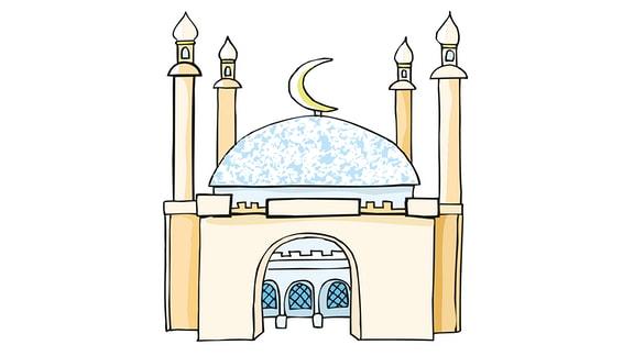 Zeichnung von einer Moschee
