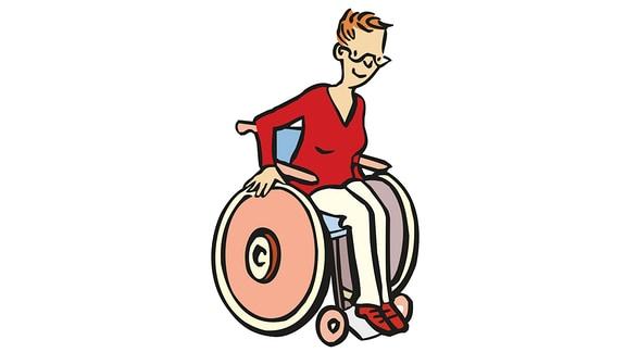 Rollstuhl-Fahrerin