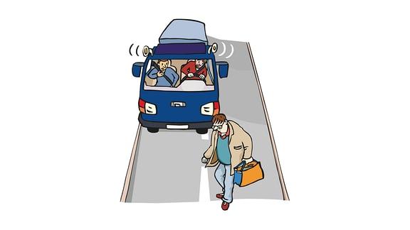 Verkehr-Gefahr