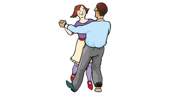 Eine Frau und ein Mann tanzen