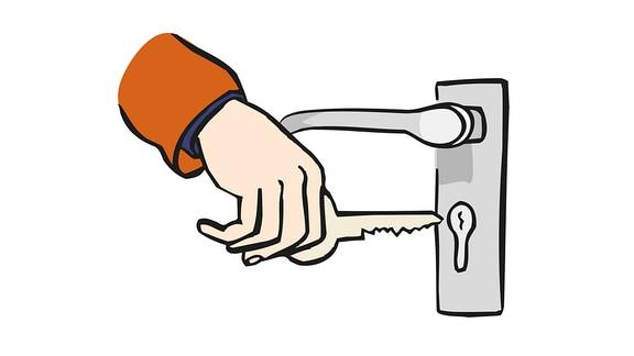Schlüssel-abschließen