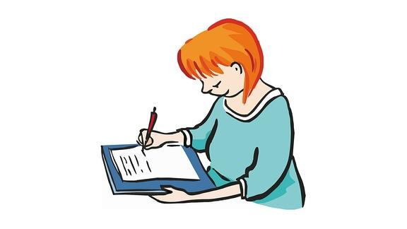 schreiben-Frau