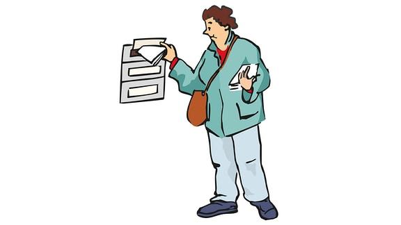 Arbeit-Post austragen