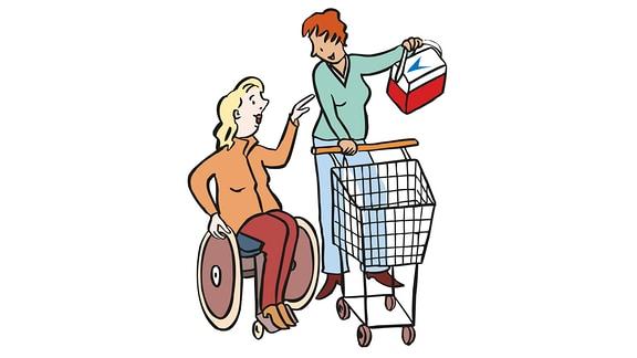 Assistentin-einkaufen