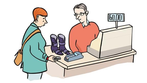 einkaufen-Schuhe
