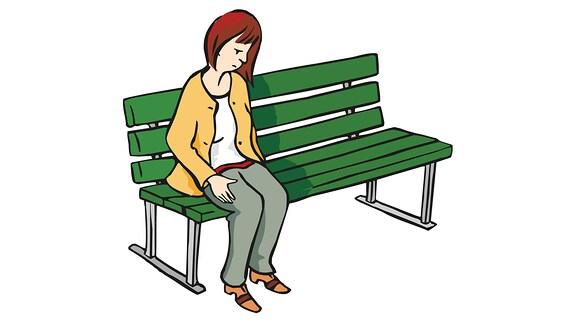 einsam-Frau