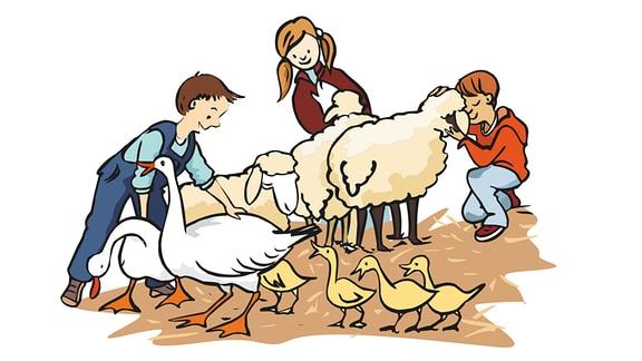 Kinder-Tiere