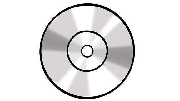 Eine Zeichnung: eine CD.