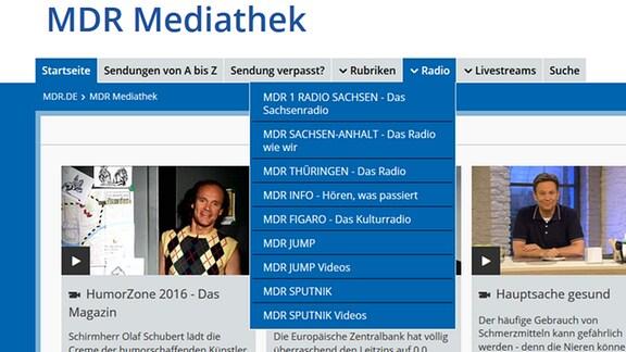 Liste der MDR-Radiosender mit Hör- und Filmbeiträgen.