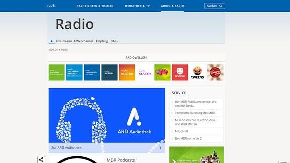 Das Radioangebot von MDR.DE.