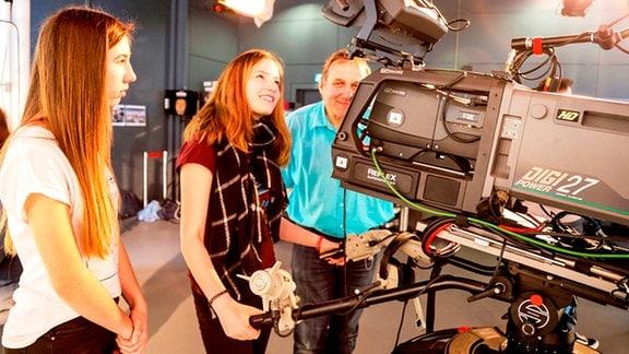 Im TV-Studio von MDR Sachsen-Anhalt.