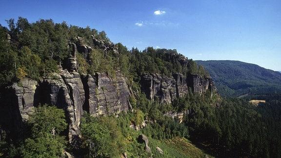 Die Affensteine in der Sächsische Schweiz.