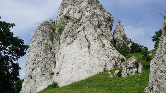 05 Klettern, Dieter Schneider klettert am Pietra 3 in Ampotia