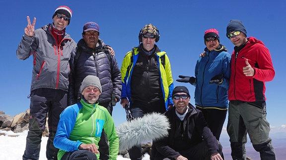 Biwak-Team Gipfel des Uturuncu.