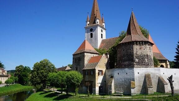 Kirchenburg in Cristian (Grossau), Siebenbürgen.
